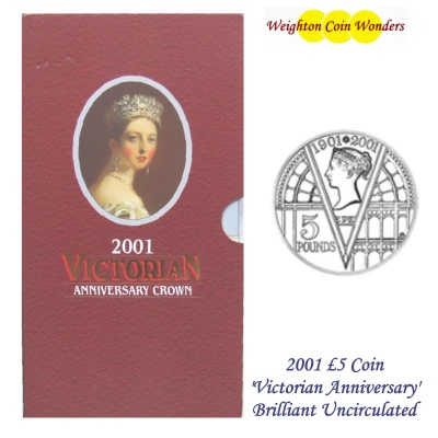 2001 BU £5 Crown Pack – Victorian Anniversary